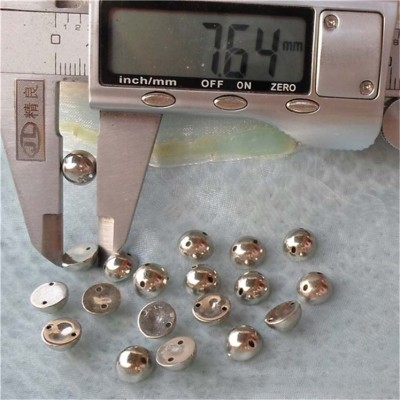 F033 Round ABS Sew Spikes 8x4mm 1000pcs/bag