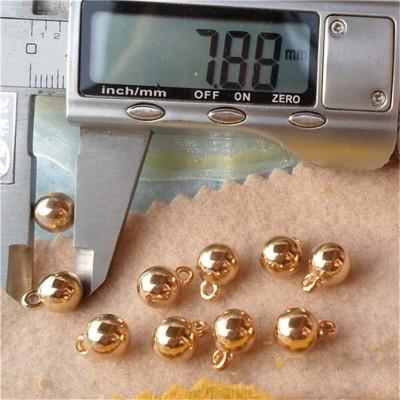 F040 Round ABS Sew Spikes 8x4mm 1000pcs/bag