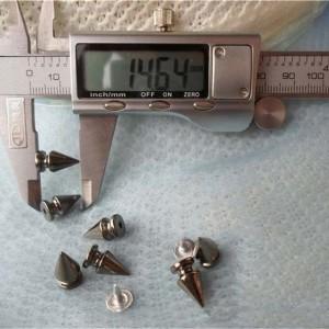 Q007 Tree ABS Silver Rivets 8x14mm 1000pcs/bag