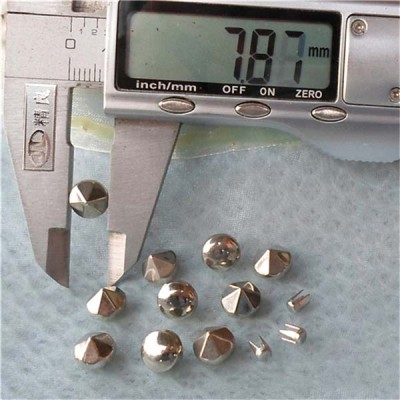 Q045 Six Facets Rivets For Leather Craft 8x6mm 1000pcs/bag