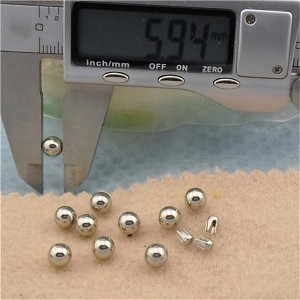 Q052 Round/Pearl Plastic Rivets 6mm 1000pcs/bag