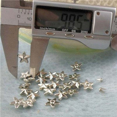 Q055 Pentagram Plastic Rivets 9.5mm 1000pcs/bag