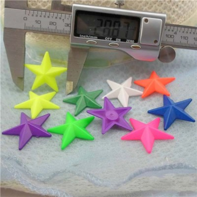 Q058 Pentagram Plastic Rivets 29mm 1000pcs/bag