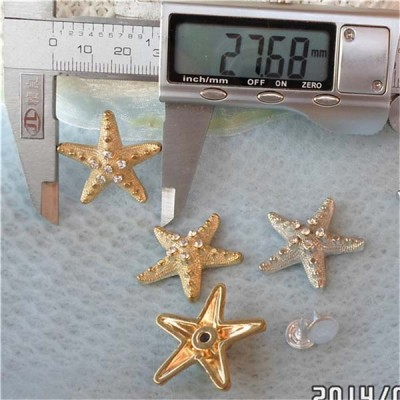 Q072 Starfish Plastic Rivets 28x26mm 100pcs/bag
