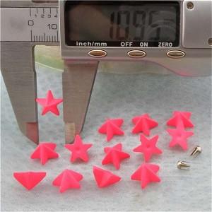 Q089 Pentagram Plastic Rivets 11mm 1000pcs/bag