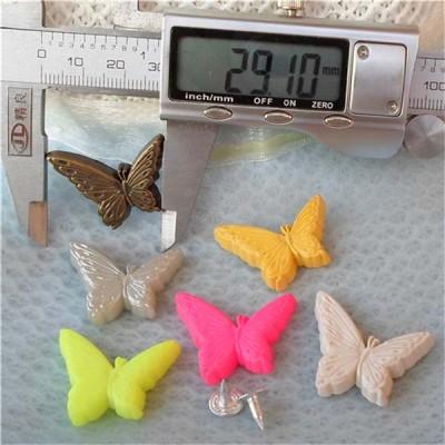 Q113 Butterfly Plastic Rivets 22x29mm 100pcs/bag