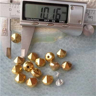 Q148 Six Facets Custom ABS Rivets10x9mm 1000pcs/bag