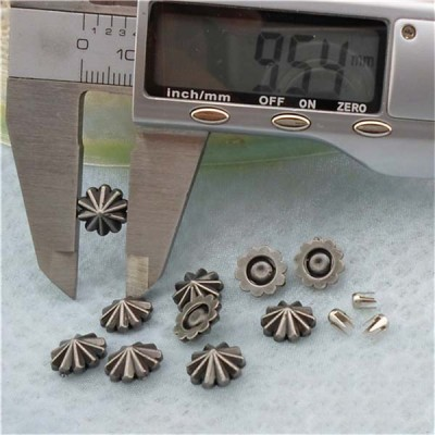 Q157 Custom ABS Rivets 9.5x9.5mm 1000pcs/bag