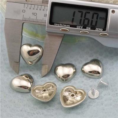 Q168 Heart Plastic Rivets 17.6x17mm 1000pcs/bag