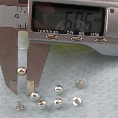 Q173 Round/Pearl Plastic Rivets 6mm 1000pcs/bag