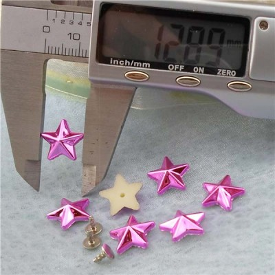 Q199 Pentagram Plastic Rivets 13mm 1000pcs/bag