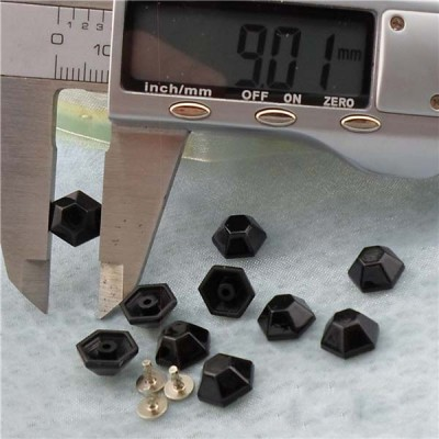 Q207 Six Facets Plastic Rivets 10x5mm 1000pcs/bag