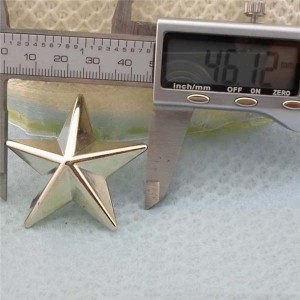 Q212 Pentagram Plastic Rivets 46mm 100pcs/bag