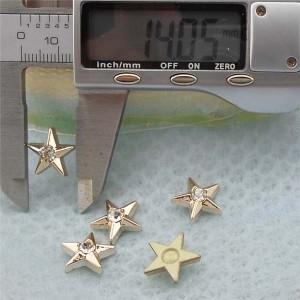 Q219 Pentagram Plastic Rivets 14mm 1000pcs/bag