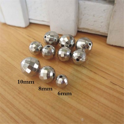 X060810 Round ABS Sew Spikes 6mm 1000pcs/bag