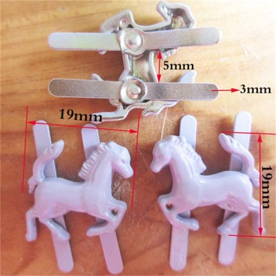 XL1919 Horse Alloy Studs 19x19mm 100pcs/bag