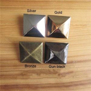 XL3535 Silver Pyramid Studs(iron/brass) 35mm 100pcs/bag