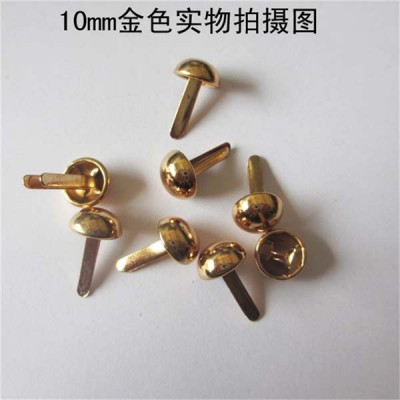 XR1012 Dome Studs(iron/brass) 10mm 1000pcs/bag