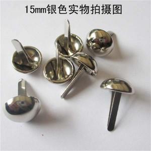 XR1517 Dome Studs(iron/brass) 15mm 100pcs/bag