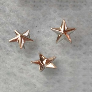ZZWX-0115 Pentagram Studs For Garments(iron/brass) 11x2mm 1000pcs/bag