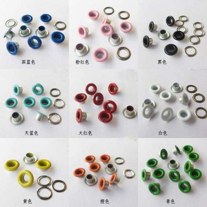 REE080405# Round edge eyelets 8x4x5mm 1000pcs/bag