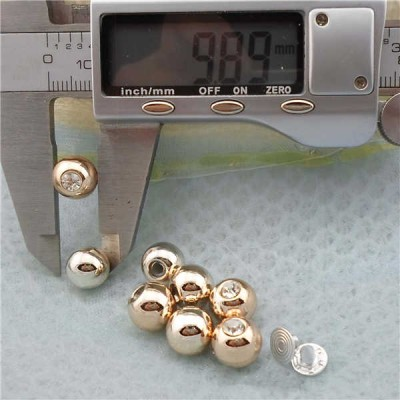 Q222 Round/Pearl Plastic Rivets For DIY 10mm 1000pcs