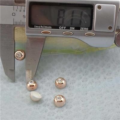 Q225 Dome Plastic Rivets 8x5mm 1000pcs