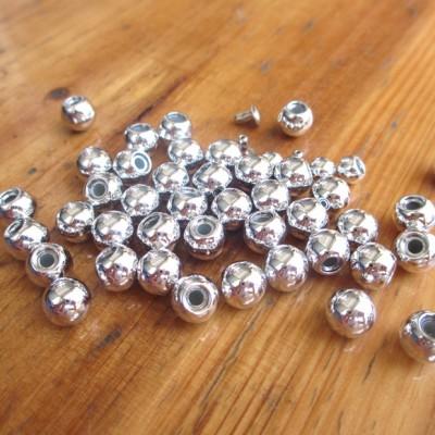 X0006 Round/Pearl Plastic Rivets 6mm 1000pcs