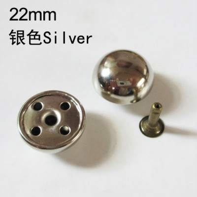 X2210 Dome Rivets(iron/brass) 22x10mm 100pcs
