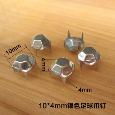 XX1004 Football Studs(iron/brass) 10x4mm 1000pcs