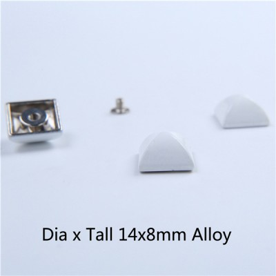 D1408 Pyramid Screw Spikes 14x8mm 100pcs/Bag