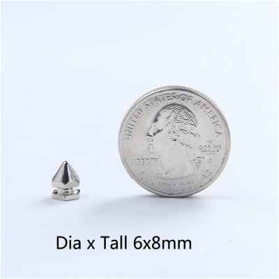 FR0608 Hexagon Screwback Spikes 6x8mm 1000pcs/Bag