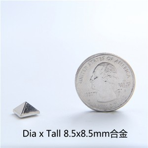 J8585 Wholesale Pyramid Spikes 8.5x8.5mm 100pcs/Bag
