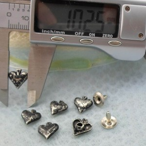 K218 Hearts Rivets For Leather Craft 10x4mm 1000pcs/Bag
