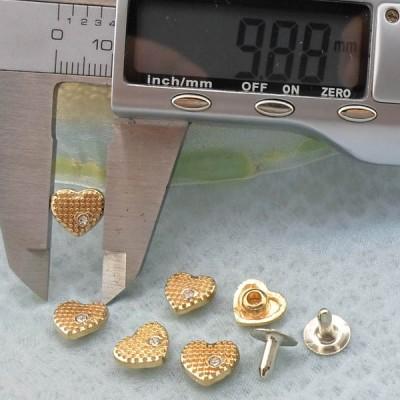 K229 Hearts Clothing Rivets 10x5mm 1000pcs/Bag