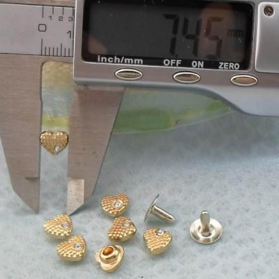 K230 Custom Heart Rivets 7.5x4mm 1000pcs/Bag
