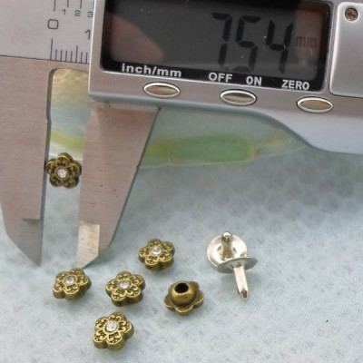 K231 Flowers Alloy Rivets 7.5x5mm 1000pcs/Bag