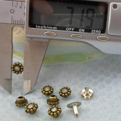 K232 Flowers Alloy Rivets 7x5mm 1000pcs/Bag