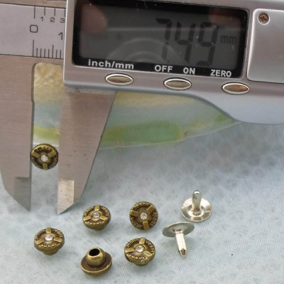 K233 Flowers Alloy Rivets 7.5x5mm 1000pcs/Bag