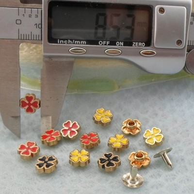 K236 Flowers Alloy Rivets 8.5x4mm 1000pcs/Bag