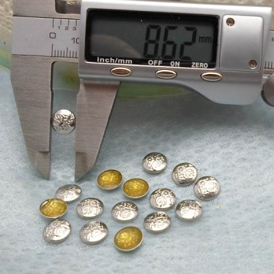 X031 Metal Round  Hot Fix nails 9x2mm 5000pcs/Bag