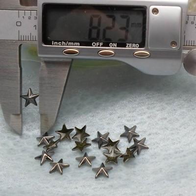 X043 Metal Pentagram  Hot Fix nails 8x2mm 5000pcs/Bag