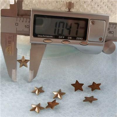 X044 Metal Pentagram  Hot Fix nails 10x2mm 5000pcs/Bag