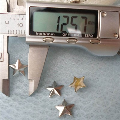 X045 Metal Pentagram Hot Fix nails 12x2.5mm 5000pcs/Bag