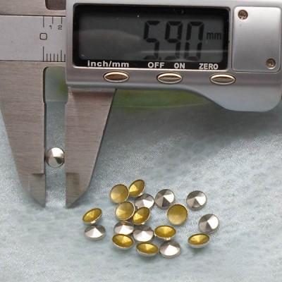 X077 Metal Six Face Hot Fix nails 6x2mm 5000pcs/Bag