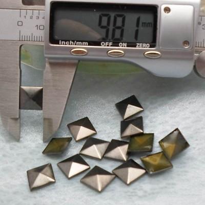 XX053 Metal Pyramid Hot Fix nails 10x2.5mm 5000pcs/Bag
