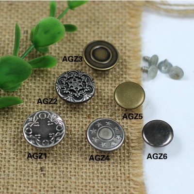 AGZ Jeans Button Shake head button