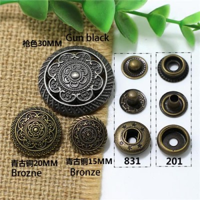 AY104201 201# Metal Snap Fastener/Decorative buckle/Leather buckle/Cowboy deduction/Purse buckle