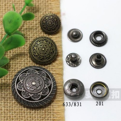 AY104831 831# Metal Snap Fastener/Decorative buckle/Leather buckle/Cowboy deduction/Purse buckle