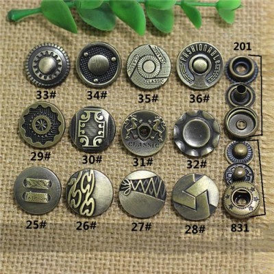 AY109201 201# Metal Snap Fastener/Decorative buckle/Leather buckle/Cowboy deduction/Purse buckle 17mm